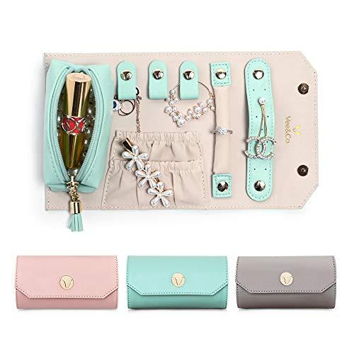 Vee Schmuckrolle Schmuckkasten Schmuckschatulle Schmuckkoffer Schmuck Organizer Jewelry Box Ohrringe Ringe Kette Uhren Lippenstift Geschenk