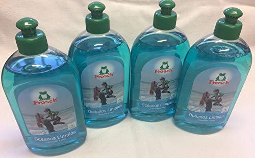Frosch Detersivo 4 x 500 ml per mari puliti (etichetta spagnola – piastra di prodotto tedesca)