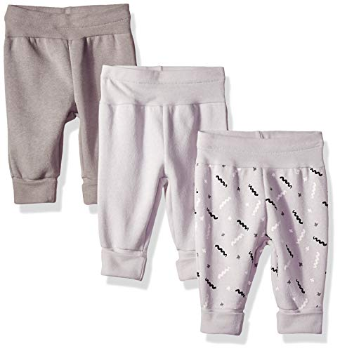 Hanes Ultimate Baby Flexy 3 Pack Adjustable Fit Fleece Joggers, Grey/Black, 18-24 Months