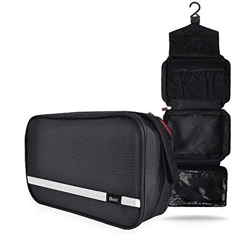 Neceser Viaje Hombre y Mujer, Boic Pequeño Bolsas de Aseo Impermeable, Neceser Maquillaje Pack Neceser Baño Toiletry Kit, Cosmético Organizadores de Viaje Travel Toiletry Bag (Negro)