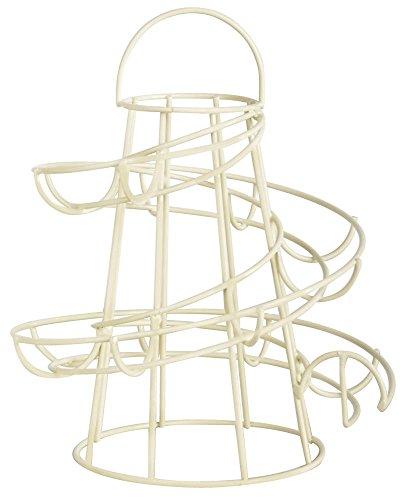 Esschert Design Eierständer aus Metall, 18 x 18 x 23 cm, in weiß, Frühstücksei-Ständer