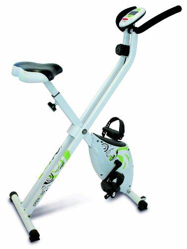 Tecnovita by BH - Open & Go - Vélo pliable pour l'exercise - Mixte - Blanc (Blanc/Noir/Vert) -...