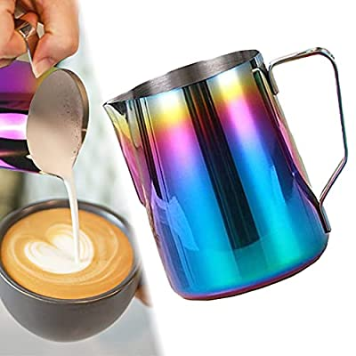 Amazon - 70% Off on Milk Frothing Pitcher, Stainless Steel Milk Frothing Cup Espresso Steaming