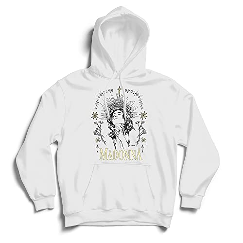 Madonna Like A Prayer White Drawstring Hoodie for Adults