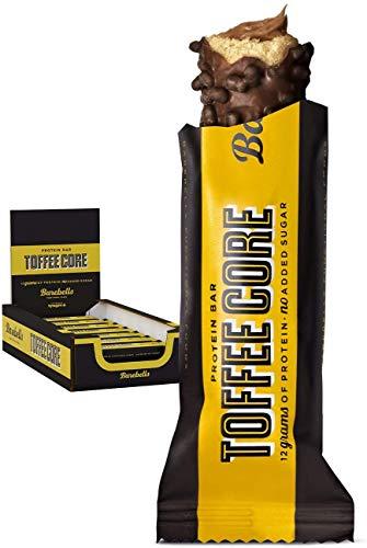 Barebells Proteinriegel Toffee Core bar 35g x 18 Proteinreich Kohlenhydratarm Kaum Zucker 20 Gramm Protein pro 55-Gramm-Riegel Köstliche Proteinriegel für Muskelaufbau und -regeneration