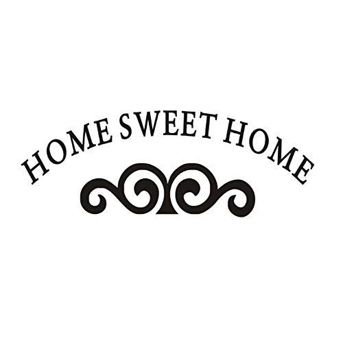 Muursticker huisdecoratie voor woonkamer muurstickers Vinyl Art muurstickers lijm Sweet Home met baard 59x21cm