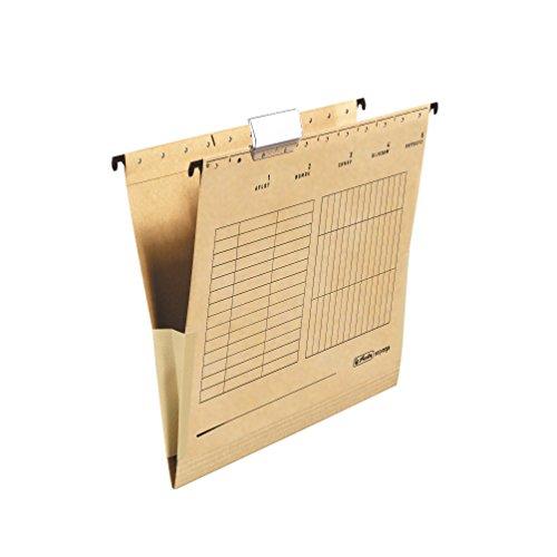 Herlitz 10843373 Hängetasche (A4 mit Leinenfröschen) 25 Stück Karton braun , 32 x 23,7 cm