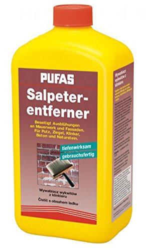 Pufas Salpeterentferner 1 Liter - gegen Ausblühung auf Putz, Beton Ziegel, Naturstein, Klinker