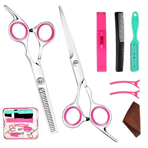 Professionelle Friseur-Haarschneide-Kombination Set Friseurschere Werkzeug-Set Farbe zufällig (15,2 cm)