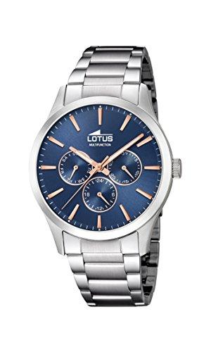 Lotus Watches Reloj Multiesfera para Hombre de Cuarzo con Correa en Acero Inoxidable 18575/5