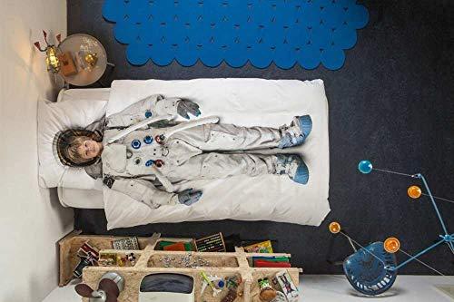 Snurk Astronaut | DE 135 x 200 cm | inkl. 1 Kissenbezug 80 x 80 cm