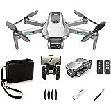 Drone GPS Plegable con cámara 6K, transmisión en Vivo Full HD, Tiempo de Vuelo de 30 Minutos, FPV WiFi 5G, Adecuado para Principiantes y Profesionales (versión eléctrica Doble)