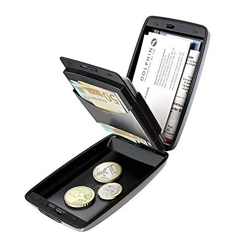 RFID Sichere EIN-und Auszahlungen Geldbörse (SCHWARZ)