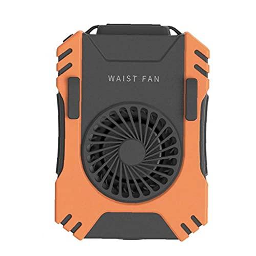Eaarliyam Mano de la fan de la cintura gratuito, recargable ventilador portátil USB ventilador mini ventilador personal para el hogar del recorrido del deporte al aire libre Oficina de camping al aire
