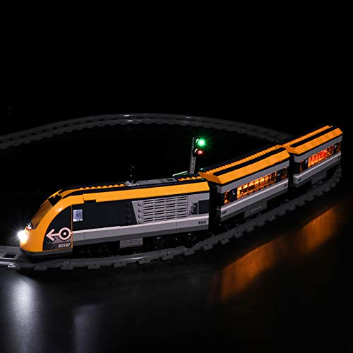 Nlne Kit De Iluminación Led para Lego City Tren De Pasajeros, Compatible con Ladrillos De Construcción Lego Modelo 60197 (NO Incluido En El Modelo)
