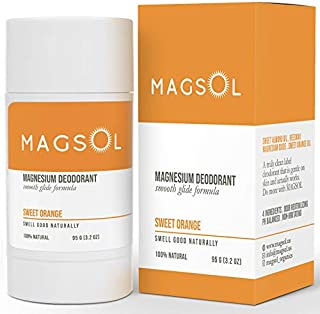 Sponsored Ad - MAGSOL Magnesium Deodorant for Women and Men - 100% Natural Deodorant - Clean Label Only 4 Ingredients - Pe...