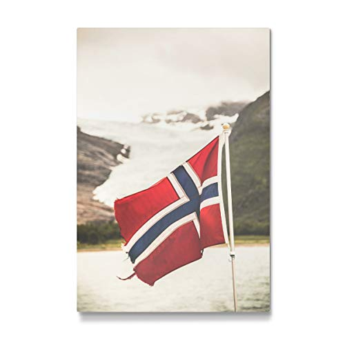 artboxONE Galerie-Print 90x60 cm Let's go Norway hochwertiges Acrylglas auf Alu-Dibond von Sebastian Worm