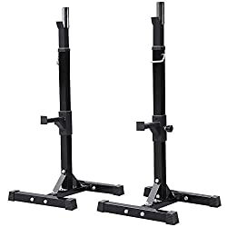 🏋Service - Customer satisfaction has always been our pursuit, if not happy with this transaction, please do not hesitate to contact us for help. 🏋Adjustable Height - 14 adjustable safety pins on each post to help you adjust to the profit height to me...