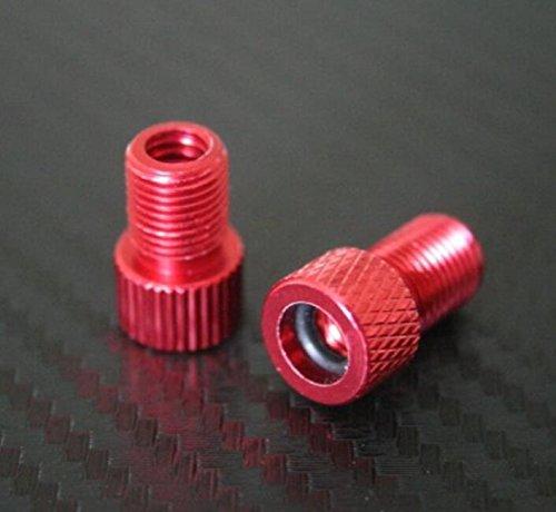 Jinzhicheng 2 pcs Creative Vélo en aluminium adaptateur de valve convertisseur d'adaptateur (Rouge)