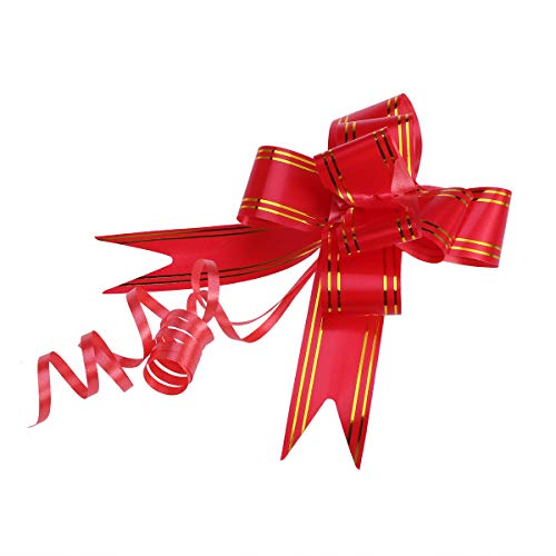 Supvox 20 STÜCKE Golden Side Design Pull Bögen Geschenk Knoten Bänder String Bögen für Hochzeitsgeschenkverpackung Auto Dekoration