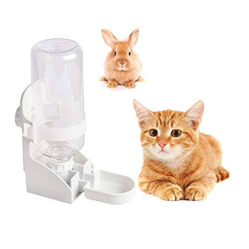 Vvciic Automatic Rabbit Feeders, 500ml Rabbit Cage Feeder, Pet Hanging Water Dispenser Cage Water...