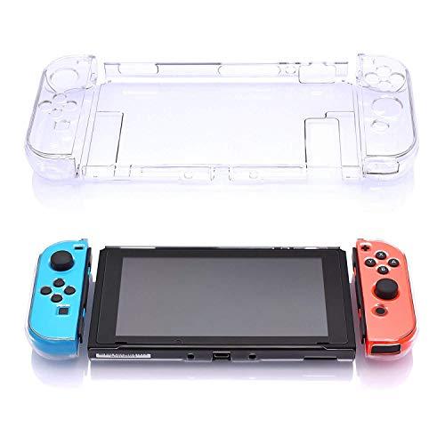 Antetek Capa transparente para Nintendo Switch, ajuste a estação de ancoragem, capa de acessórios de proteção para Nintendo Switch e controle Joy Con compatível com Nintendo Switch (transparente)