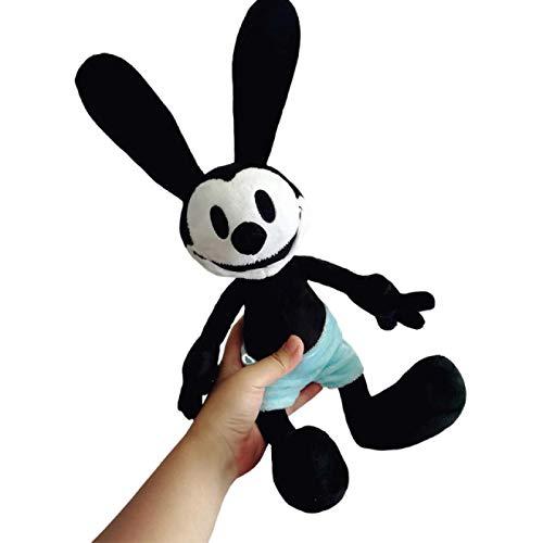 WWWL Soft Toys 40/55cm The Lucky Rabbit Plush Toys Cute Lucky Rabbit Stuffed Animals Soft Dolls Kids Toys For Children Baby Gift 55cm Black