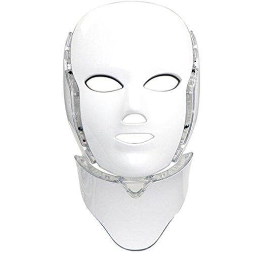 Home Care Wholesale Masque de Luminothérapie LED Photon 7 Couleurs avec Cou | Beauté Peau Soins Photothérapie Traitement Masque