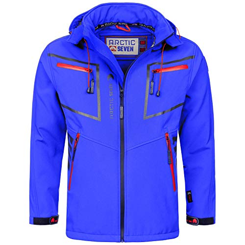 Arctic Seven heren designer softshell functionele outdoor regenjas sport AS088