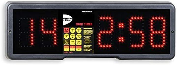 Orologio digitale cronometro boxe pugilato green hill fight timer boxing B00JG0565O