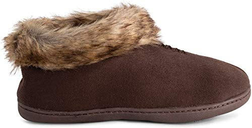 POLAR Womens Memory Foam Moccasin Loafer Rubberen zool Anti slip Duurzame Winter Indoor Outdoor Slippers