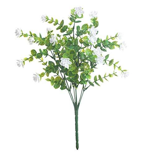Plastikblumen-Bouquet Home Office Künstliche Blumendekor Hochzeit Garten Gefälschte Blume, Weiß