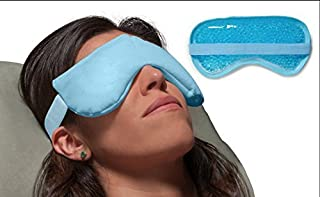 Dual Zone - Hot and Cold Compress for Dry Eye Relief, hot and cold therapy to treat: Dry Eye Syndrome, Allergies, TMJ, sinus pressure, stress. (Eye Compress Hot/Cold)