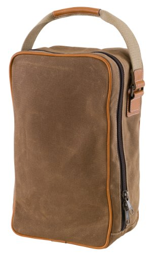 BELDING American Collection Train Case Utility Overnight Bag, Tan