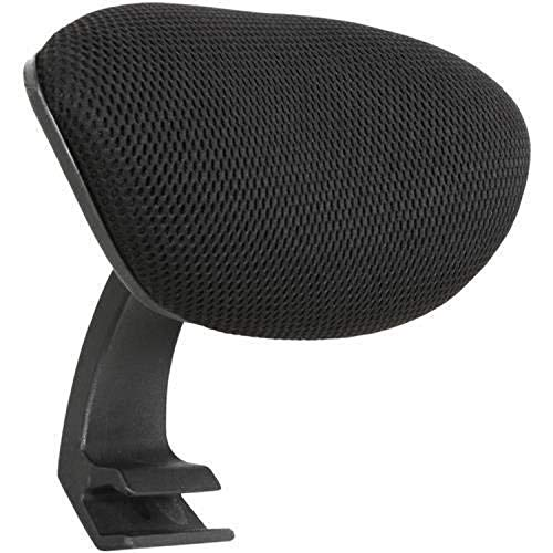 Lorell Mid-Back Chair Mesh Headrest, Black