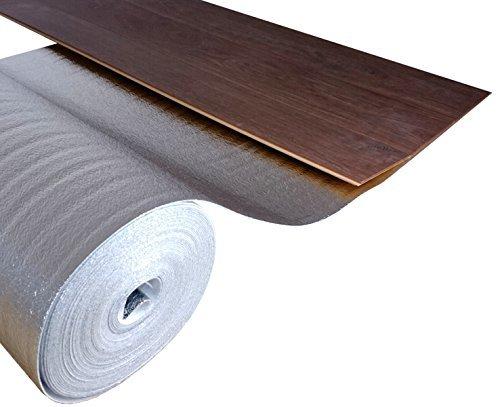 uficell® Trittschalldämmung ALU [25 m² - 1 Rolle] - PE-Schaum mit Alu-Dampfbremse - Stärke: 2 mm - Akustik Tritt- und Gehschalldämmung - Perfekt für Laminat und Parkettböden