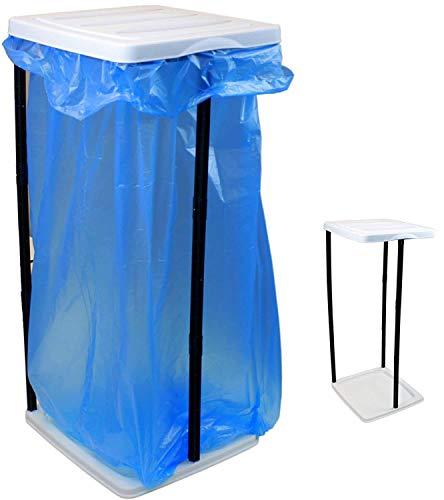 Smartweb Müllsackständer mit Deckel von 60 bis 120 Liter Abfallbehälter Sackständer Müllbeutelhalter Müllsackhalter Gelber Sack Müllbehälter Restmüll platzsparend