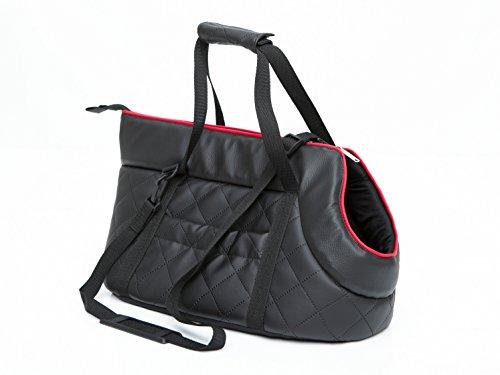 HobbyDog Hundetragetasche Hundetransporttasche Transporttasche Tragetasche Schwarz