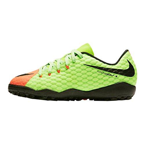 NIKE Youth Hypervenom Phelon III Turf Shoes [Green] (1)