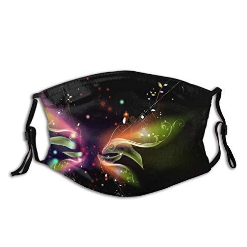 Abstrakter Hintergrund Schwarzer Schmetterling Vektor Flügel Bandana FA-CE Co-Ver Gesichtsdekorationen Kopfbedeckung mit Filtern
