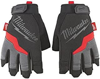 Milwaukee 48-22-8741 Fingerless Work Gloves, Medium