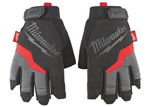 Milwaukee 48-22-8742 Fingerless Work Gloves, Large