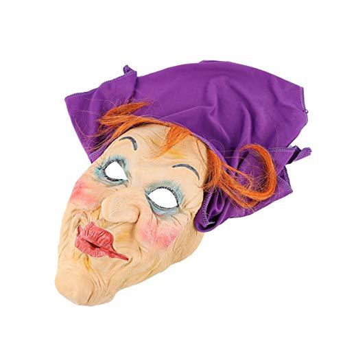 Amosfun Halloween Hexenmasken Gruselige Kopfmaske Blutige Gesichtsbedeckung Horror Gasmaske Cosplay Kostüm Spukhaus Requisiten Halloween Party Gefälligkeiten