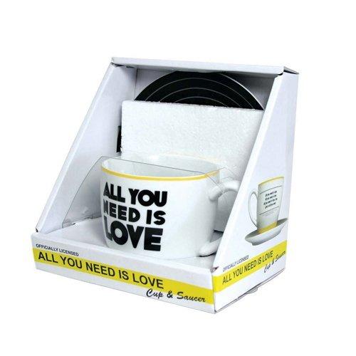The Beatles - All You Need Is Love Mug and Saucer Set