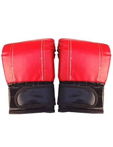 DTCFH Boxhandschuhe aus PU-Kunststoff, für MMA, Kickboxen, Training, Kampfkunst, Boxhandschuhe, atmungsaktive Handschuhe, rot