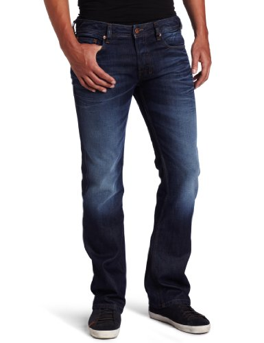 Big Sale Diesel Men's Zatiny Regular Bootcut Leg Jean 0073N, Denim, 28x30