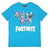 Fortnite Bunny Trouble Jungen T-Shirt Camiseta, Azure Blau, 176 para Niños