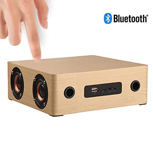 Speaker-EJOYDUTY Touch-Button draadloze Bluetooth-luidspreker met wekker, thuis en op reis 12W luidspreker, TF-kaart, AUX, U Disk Music Player