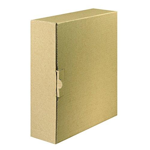 Original Falken Ordner-Versandboxmit Steckverschluss für Ordner und Ringbücher bis 8 cm Rückenbreite naturbraun