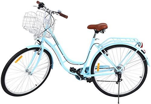 WOF Lady Classic Bike -City Bike Bicicleta de Hombre for Mujer Bicicleta de Ciudad for Mujer Deportes al Aire Libre Ciudad Bicicleta Urbana Bicicleta Shopper